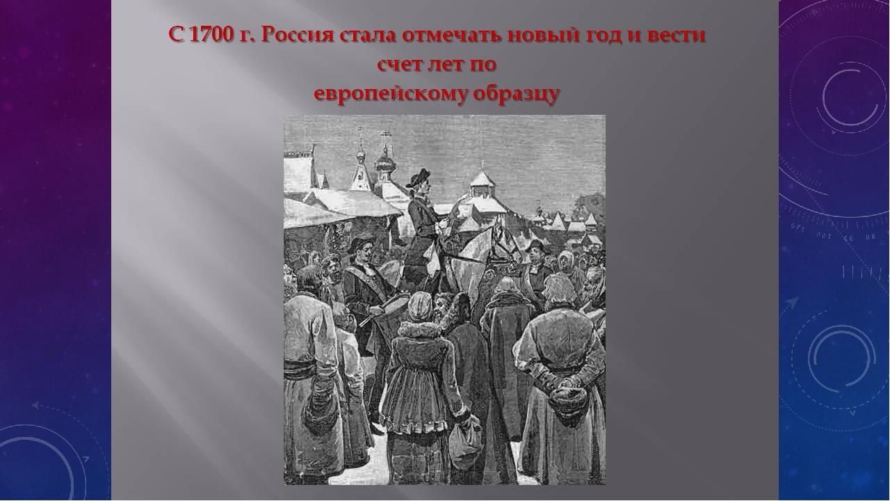 До 1700 года начало нового года