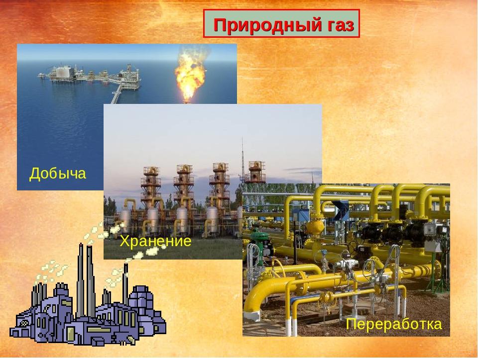Природный газ Добыча Хранение Переработка