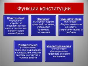 Функции конституции