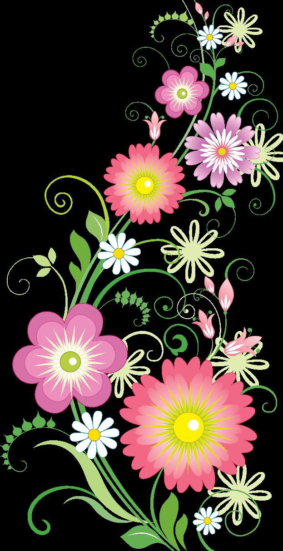 Цветочные орнаменты картинки, надписями едой