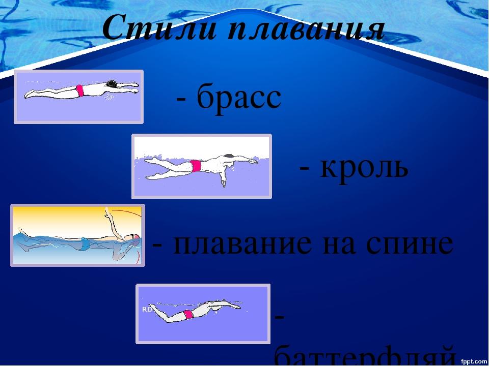 Стили плавания фото и описание сайт