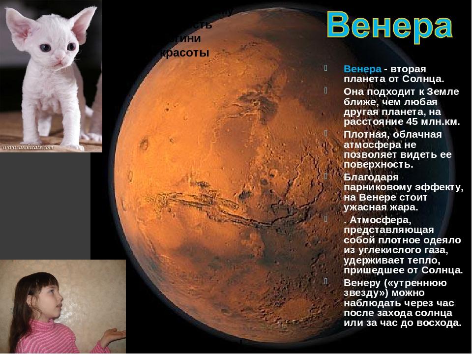Какая красавица! Эту планету поэтому и назвали в честь римской богини любви и...