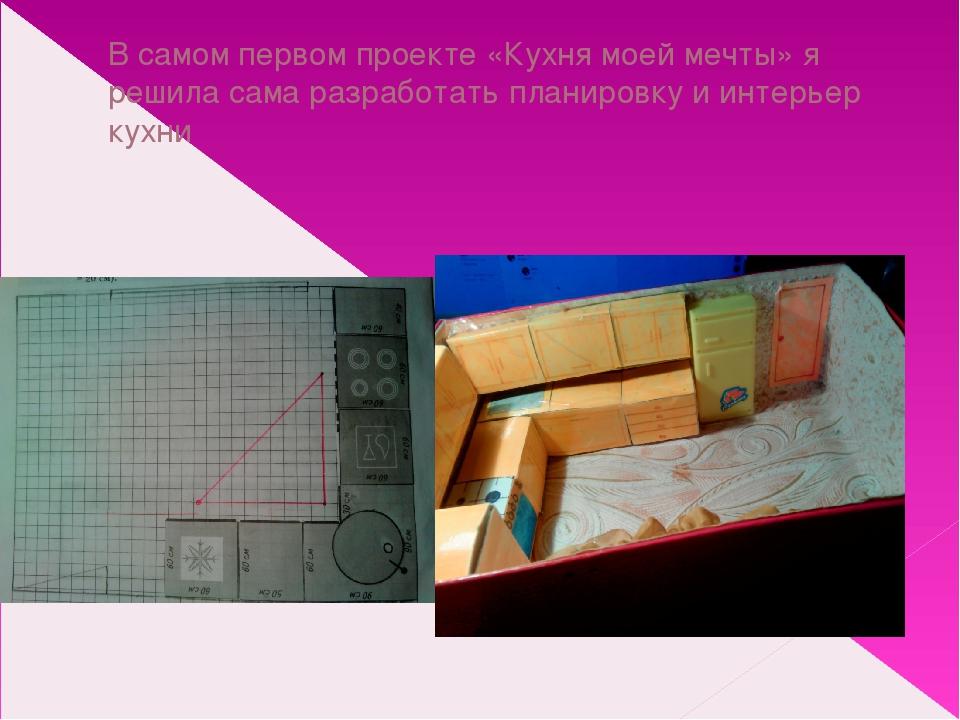 В самом первом проекте «Кухня моей мечты» я решила сама разработать планировк...