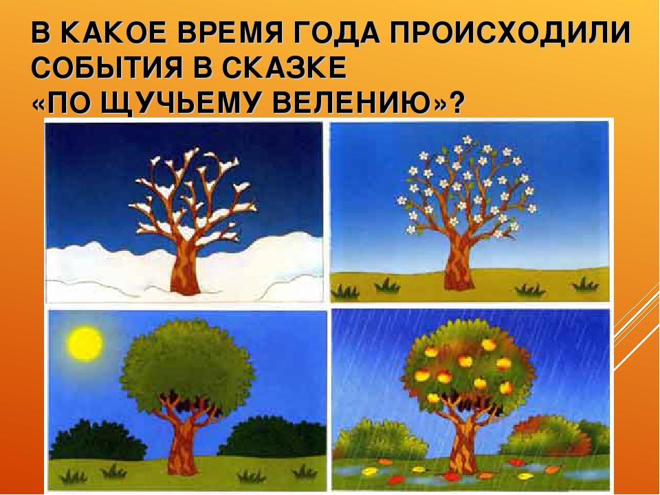 В КАКОЕ ВРЕМЯ ГОДА ПРОИСХОДИЛИ СОБЫТИЯ В СКАЗКЕ «ПО ЩУЧЬЕМУ ВЕЛЕНИЮ»?