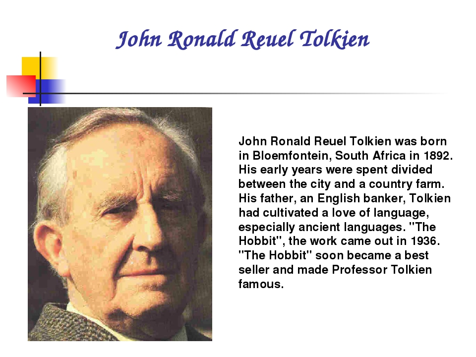 biography of j r r tolkien Jrr tolkien biography jrr tolkien (1892-1973), beloved throughout the world as the creator of the hobbit and the lord of the rings, was a professor of anglo-saxon at oxford, a fellow of pembroke college, and a fellow of merton college until his retirement in 1959.
