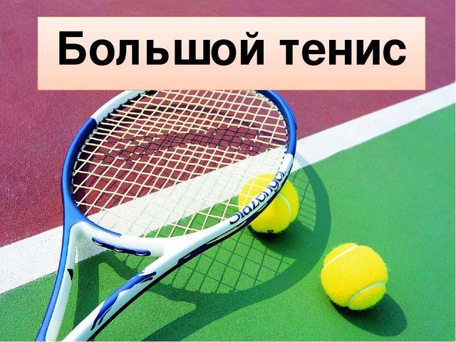 Большой теннис доклад короткий 5048