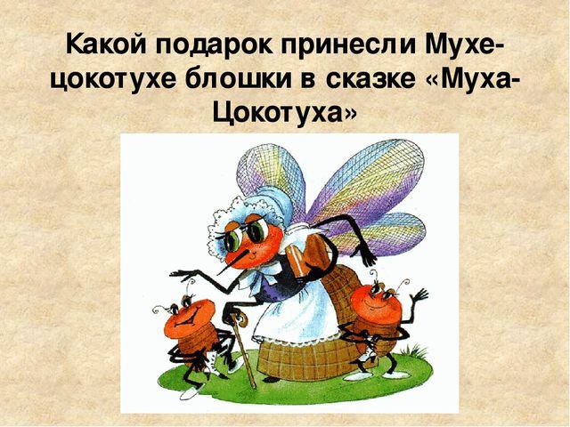 Какой подарок принесли Мухе-цокотухе блошки в сказке «Муха-Цокотуха»