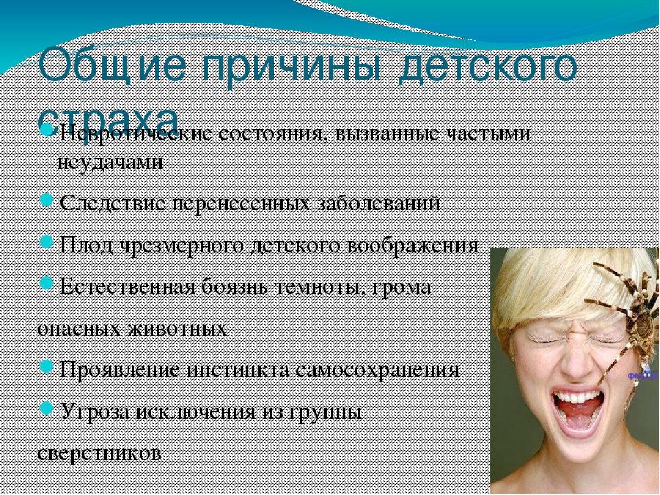 Тест на фобию в картинках