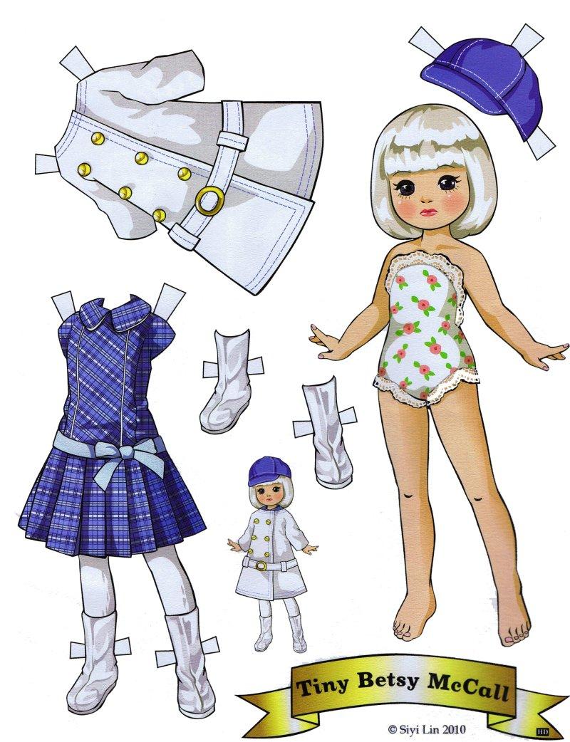 paper doll printable - 736×958