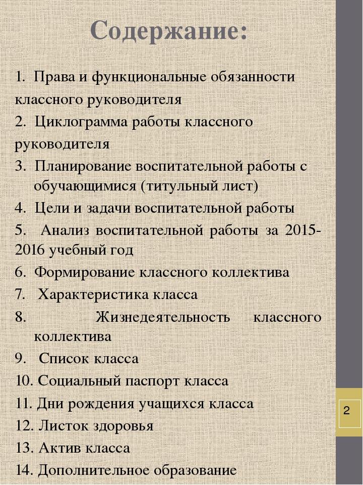 нет классный руководитель план воспитательной работы 2015-2016 поводу
