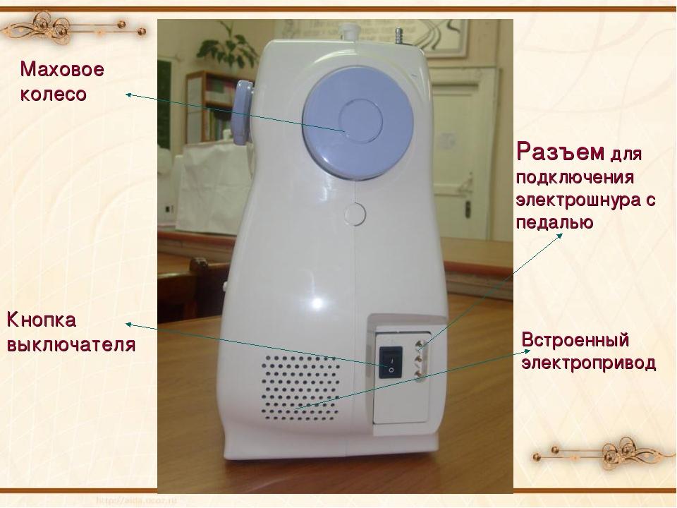 Кнопка выключателя Встроенный электропривод Разъем для подключения электрошну...