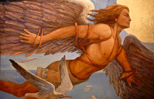 an analysis of the myth of icarus and deadalus Icarus, the son of daedalus who created the maze that held the minotaur was given wings which allowed him to fly away from the island of crete he was told not to fly too near the sun nor too close.
