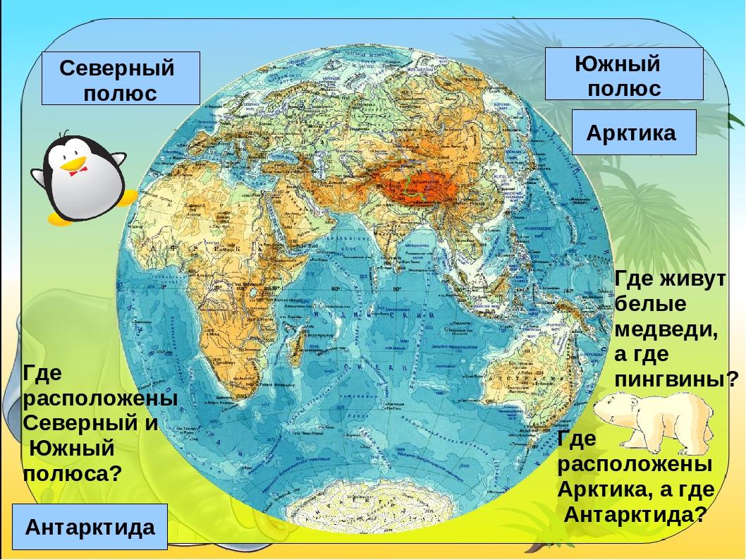Где на карте находится антарктида