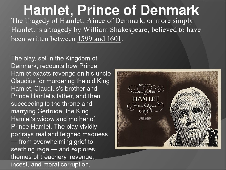 the hamlet opinion Start studying act iii learn vocabulary, terms, and more with flashcards, games, and other study tools what is claudius's opinion of hamlet's madness.
