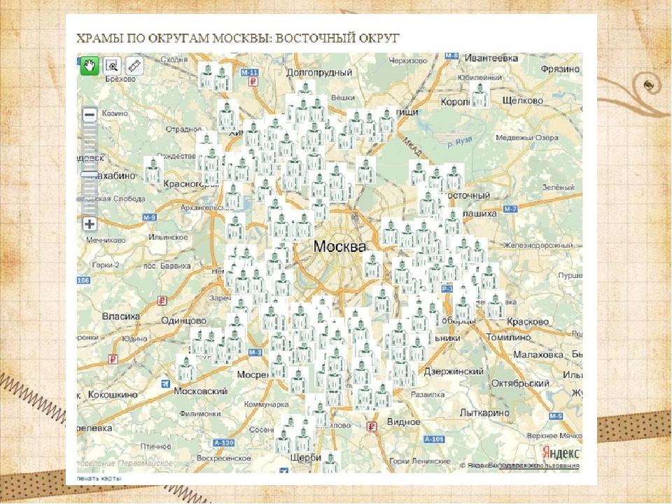 Церкви в россии на карте