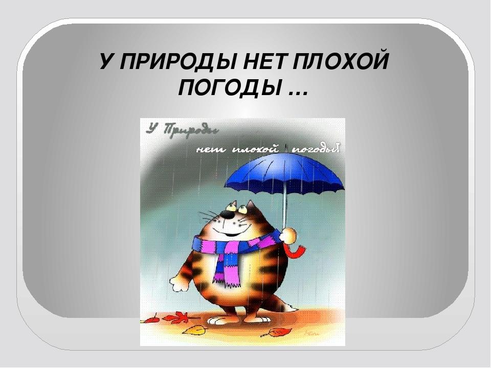 Картинка с надписью у природы нет плохой погоды, нарисовать открытку