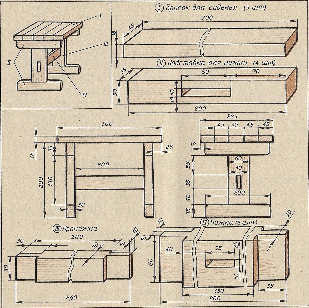 Чертежи поделок из дерева и веток: своими руками - Поделки 96