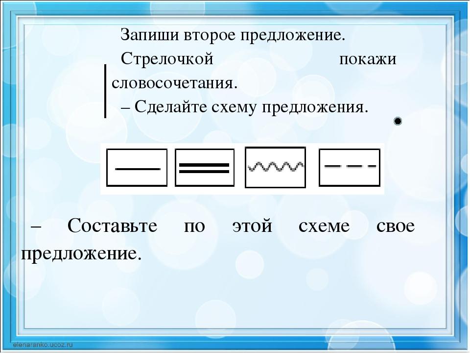 предложений примеры 2 класс схем