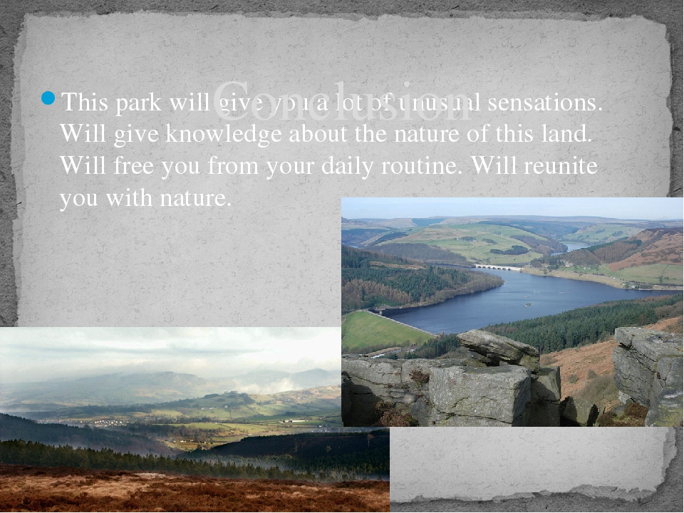 the peak district national park essay About the peak district the peak district is one of the most popular national parks in the whole of the uk, and is within a four hour drive for 80% of the uk's inhabitants.