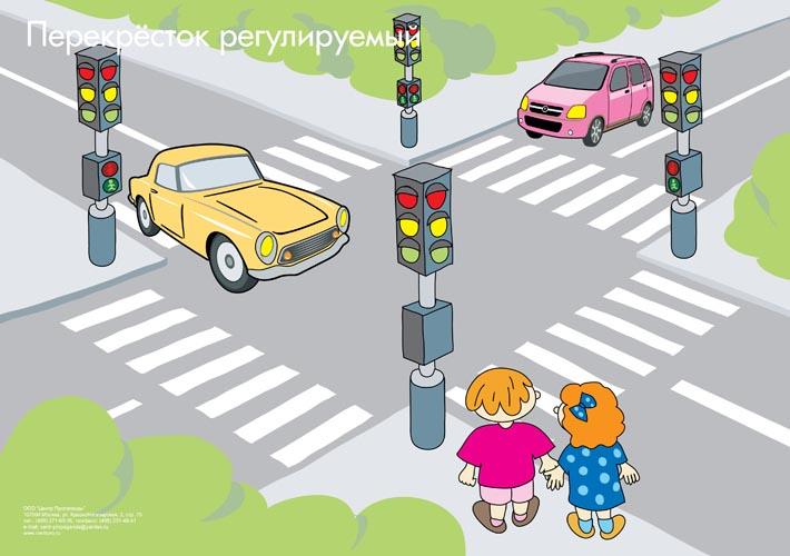 Рисованные перекрестки дорог