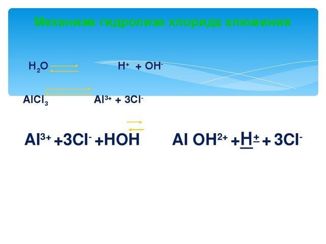 совместный гидролиз alcl3 и k2co3