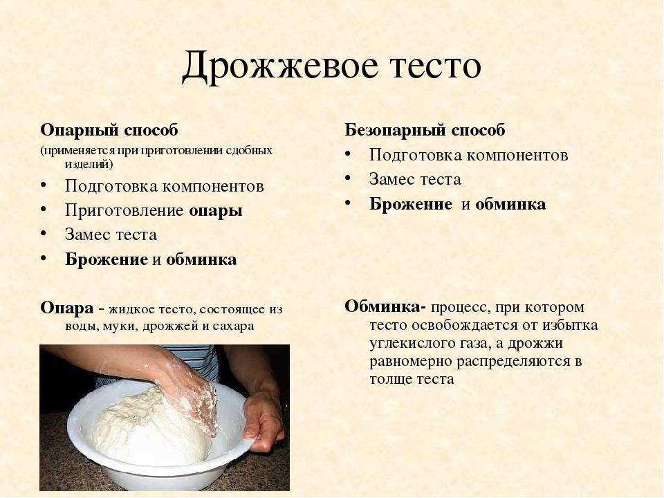 Дрожжевое тесто на опаре рецепт