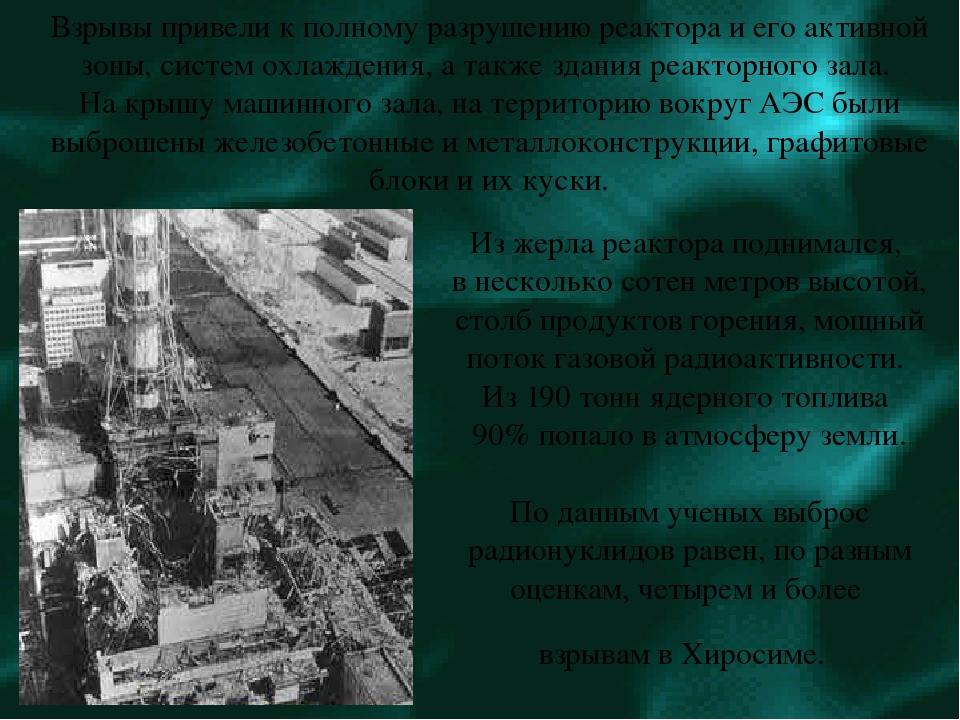 Из жерла реактора поднимался, в несколько сотен метров высотой, столб продукт...