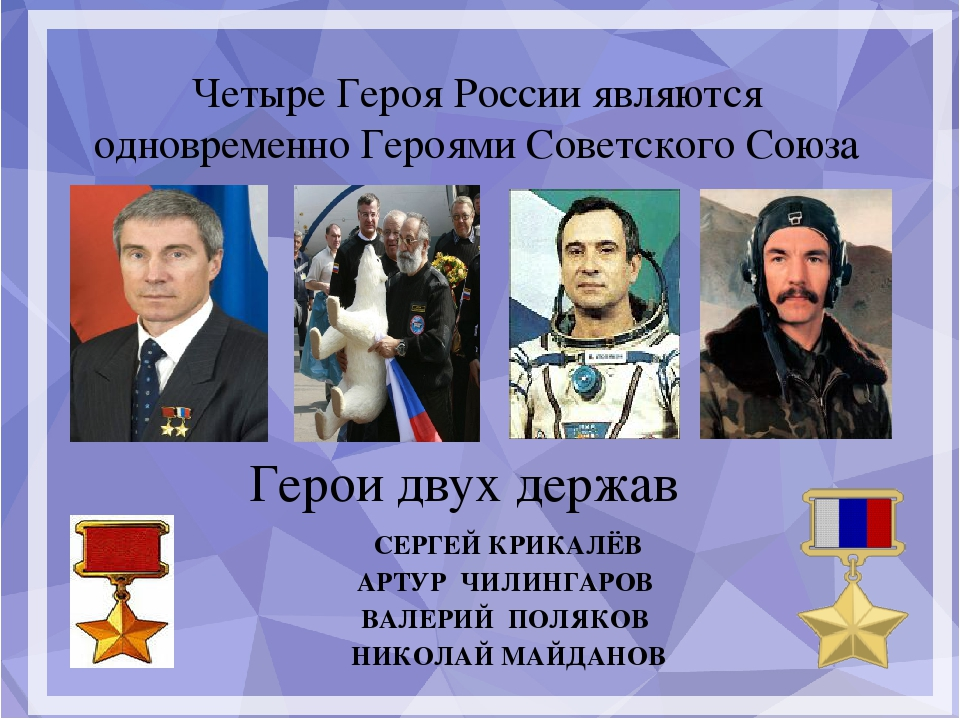 Четыре Героя России являются одновременно Героями Советского Союза Герои дву...
