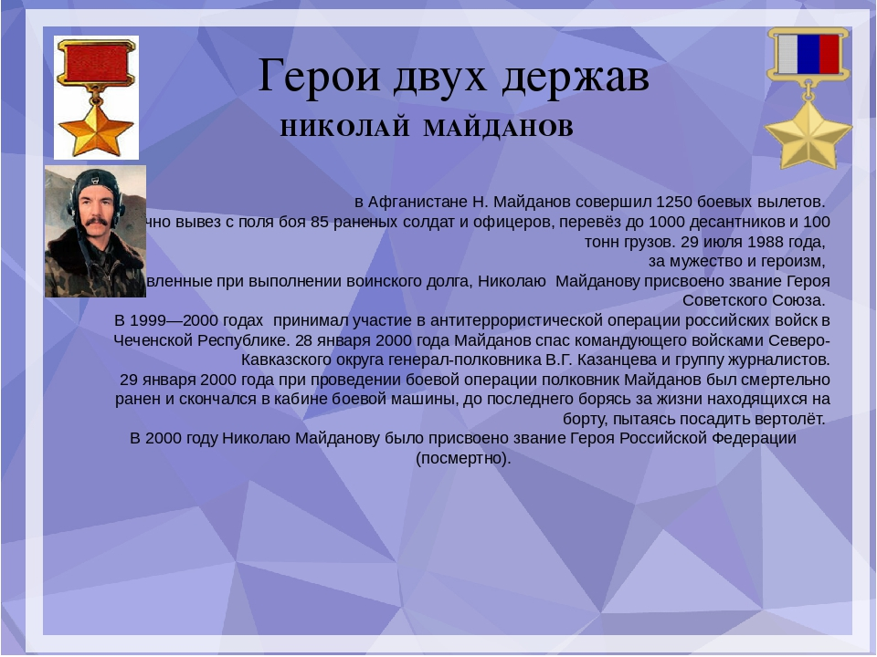 Герои двух держав в Афганистане Н. Майданов совершил 1250 боевых вылетов. Ли...