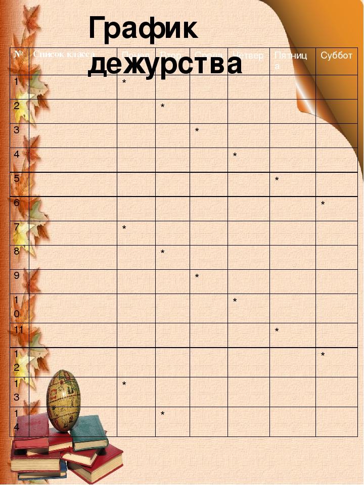 список класса картинки шаблон