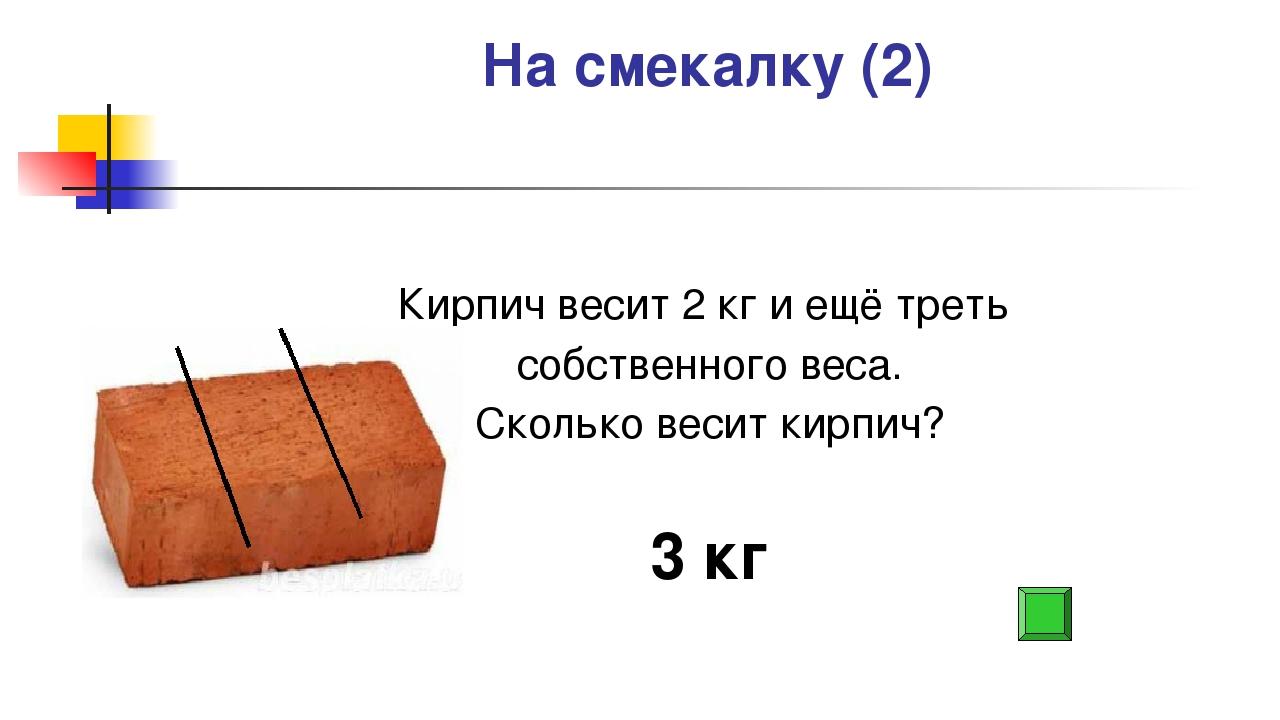 сколько весит забутовочный кирпич