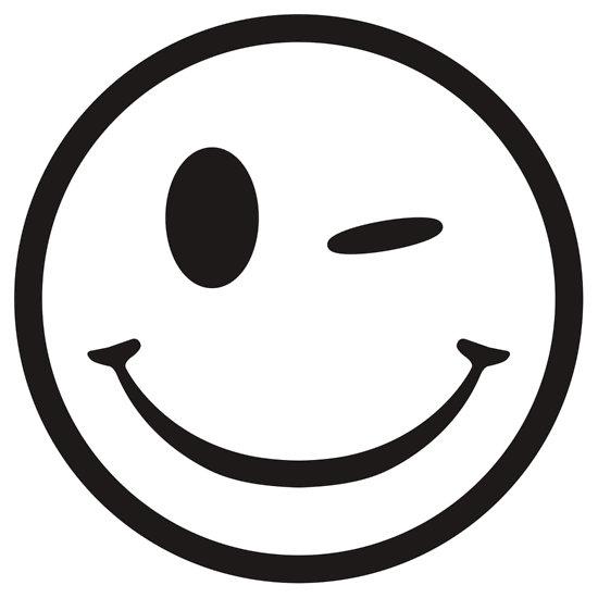 wink face clip art - 550×550