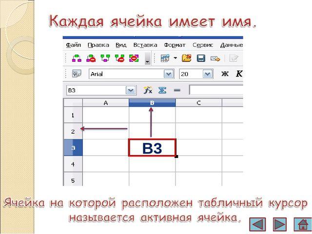 тест знакомство с электронными таблицами 7класс