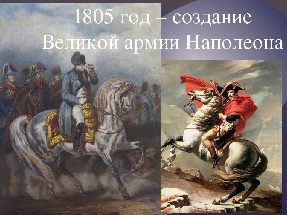 1805 год – создание Великой армии Наполеона