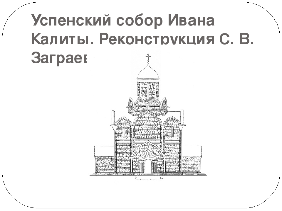 Успенский собор Ивана Калиты. Реконструкция С. В. Заграевского