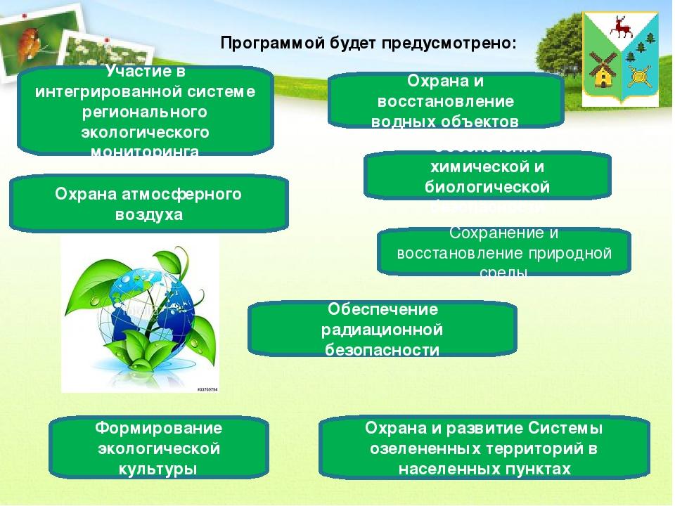 Программой будет предусмотрено: Участие в интегрированной системе регионально...