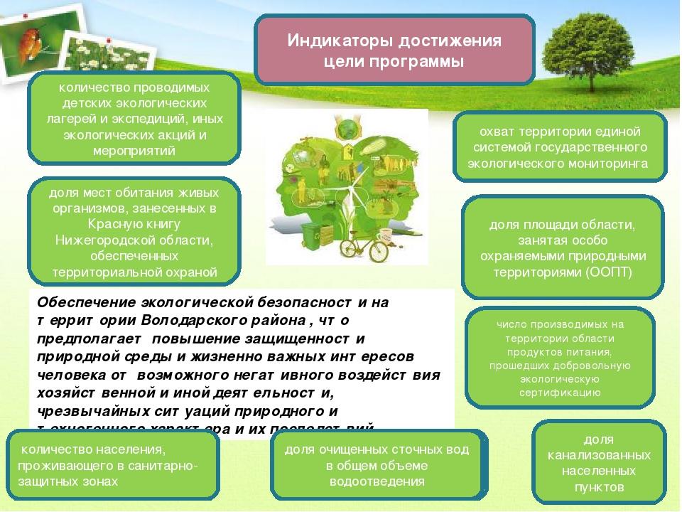 Обеспечение экологической безопасности на территории Володарского района , чт...
