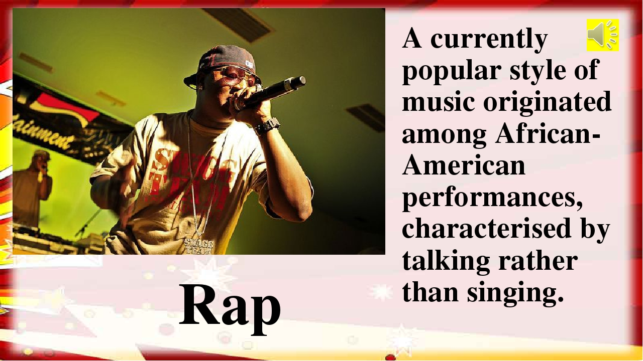 A currently popular style of music originated among African-American performa...