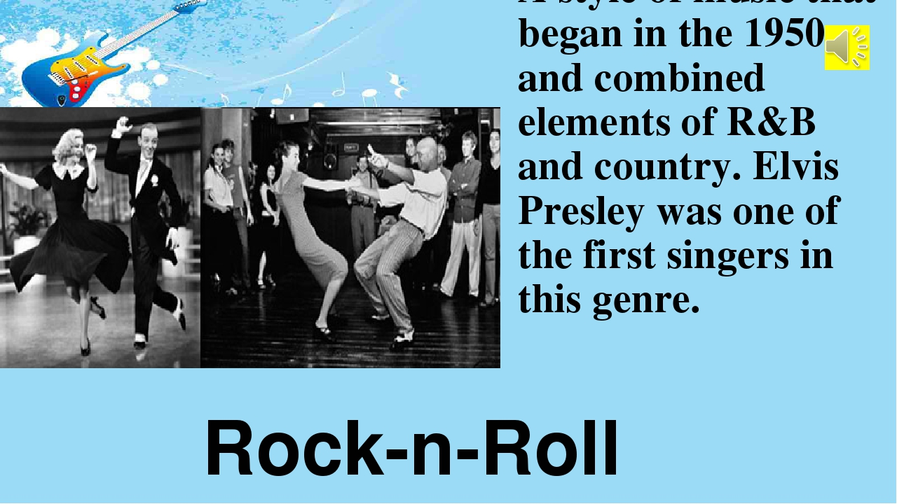 A style of music that began in the 1950s and combined elements of R&B and cou...