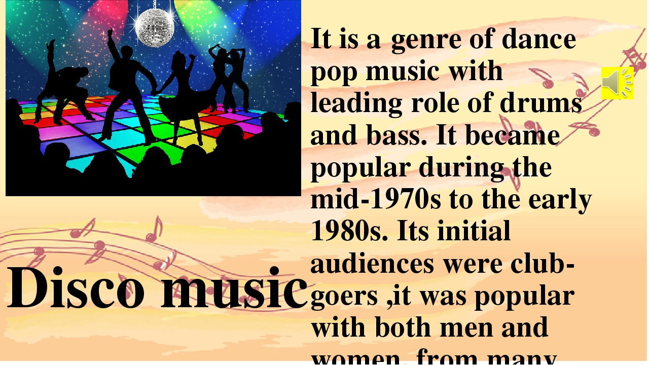 It is agenreofdance pop music with leading role of drums and bass. It beca...