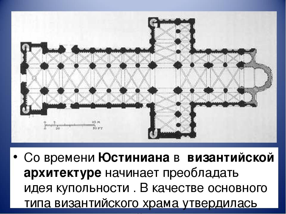 Со времениЮстинианаввизантийской архитектуре начинает преобладать идеяк...