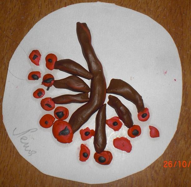Картинки ветки рябины из пластилина, белка