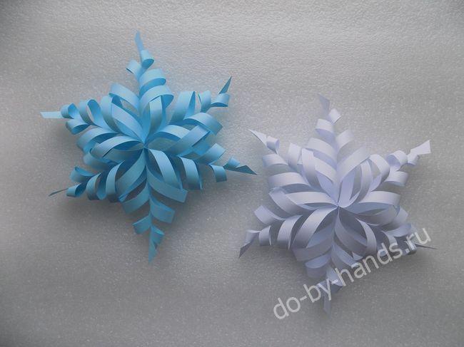 Объемная снежинка из бумаги фото