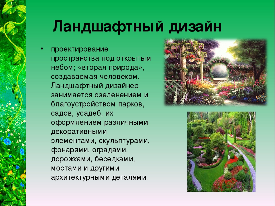 Ландшафтный дизайн проектирование пространства под открытым небом; «вторая пр...