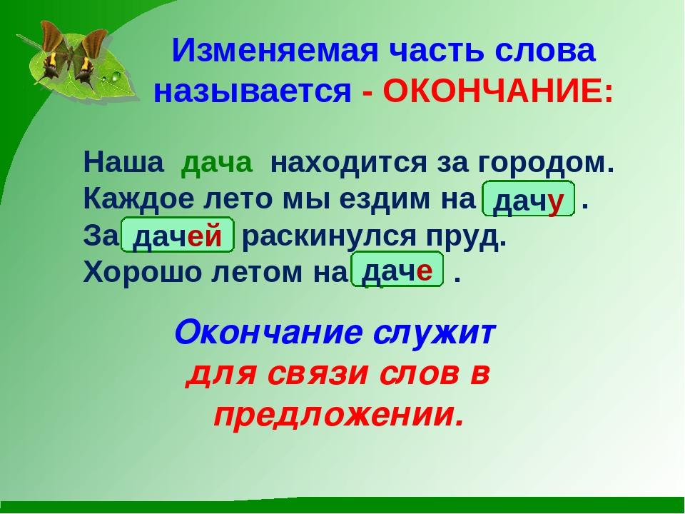 окончанием знакомство презентация русскому с языку по