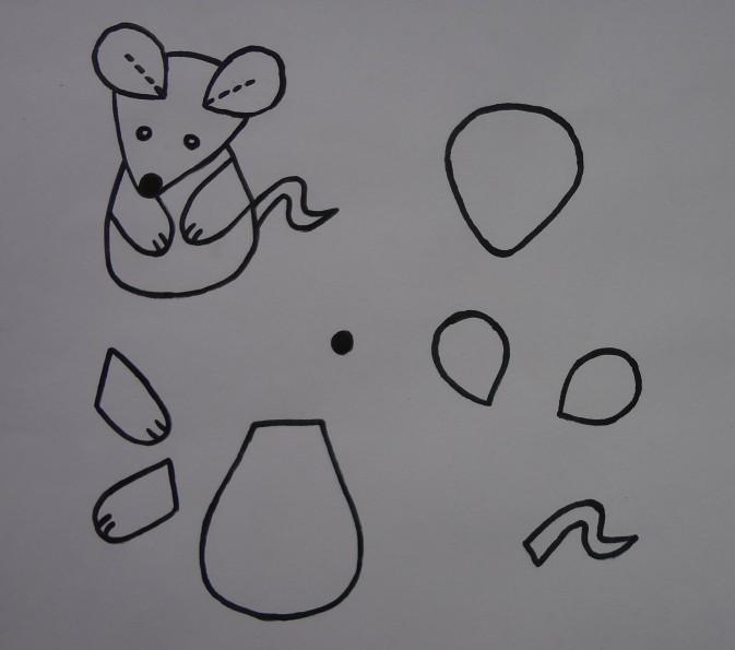 Мышки из фетра выкройки