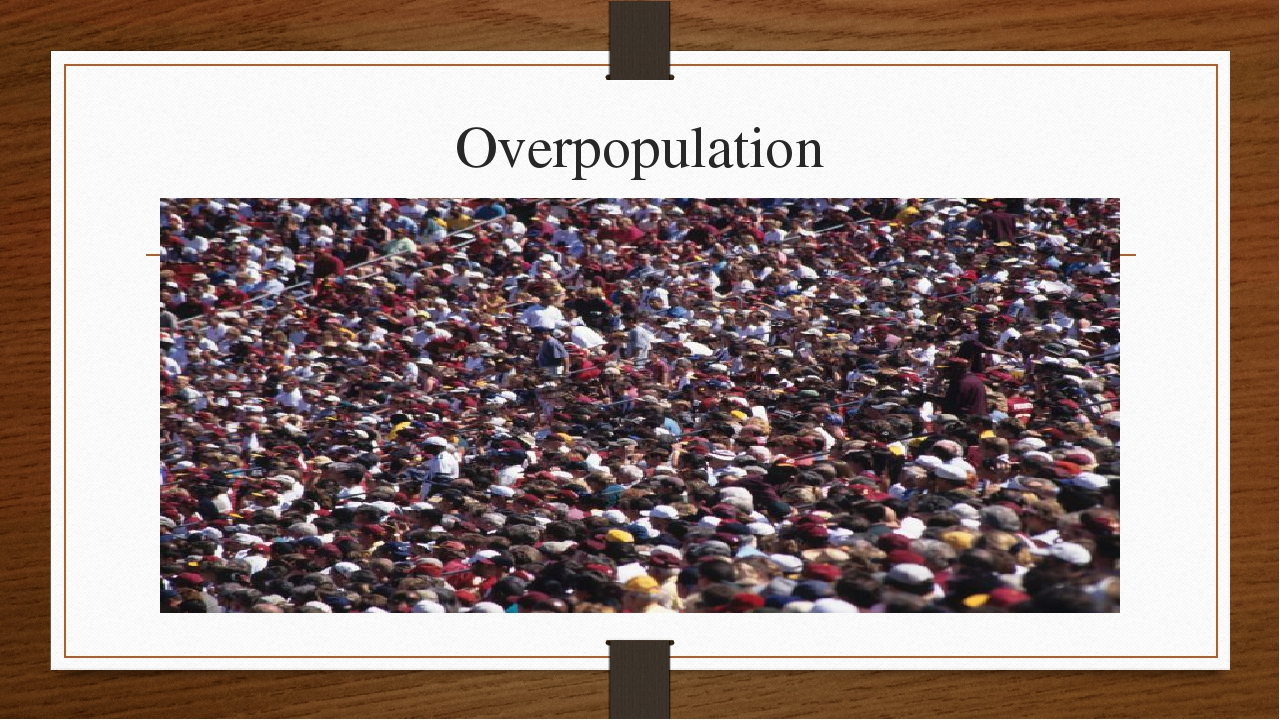 overpopulation and environmental problems Global warming, climate change, deforestation, pollution, overpopulation have taken toll on the environment and its resources the need of hour is to reduce the consumption of non-renewable resources and make this planet a better place to live for our future generations to come.