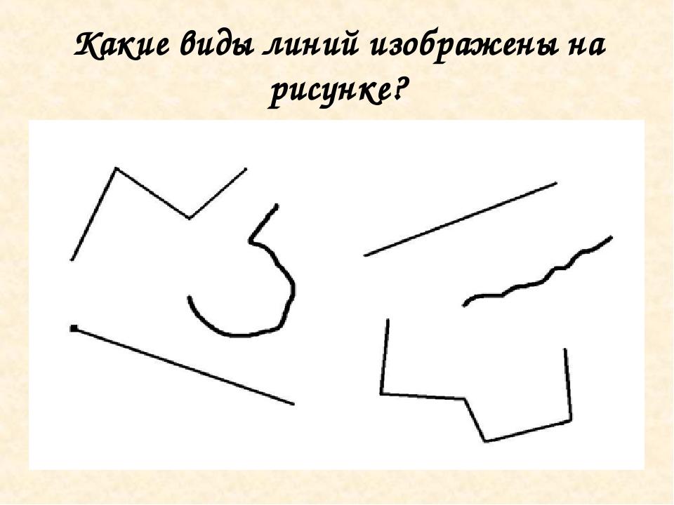 Какие виды линий изображены на рисунке?