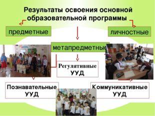 Результаты освоения основной образовательной программы предметные метапредмет