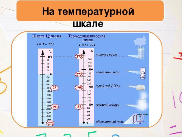 На температурной шкале